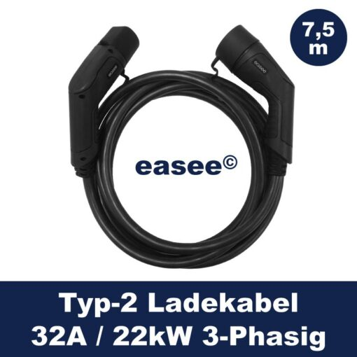 easee-Ladekabel-Typ2-32A-22kW-7,5m