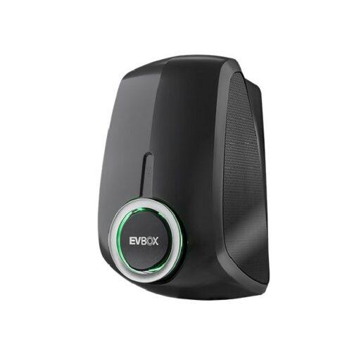 EVBox-Elvi-22kW-Wallbox-Typ2-Buchse-Schwarz_Seite