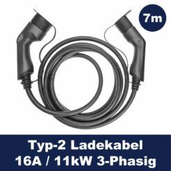 Greencell Elektroauto Ladekabel Typ2 - 11kW - 16A - 3P - 7m